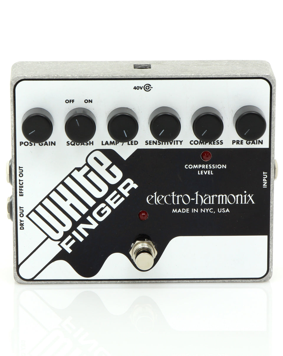 Electro Harmonix WHITE FINGER Analog Optical Compressor Pedal