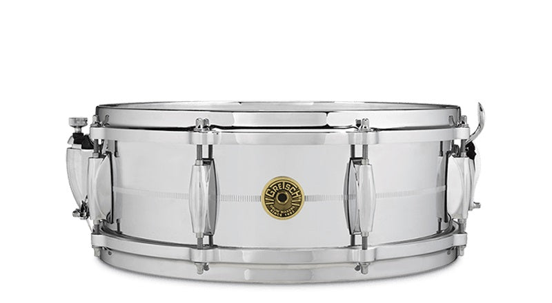 "Gretsch G4160 14"" x 5"" Chrome Over Brass Snare Drum"