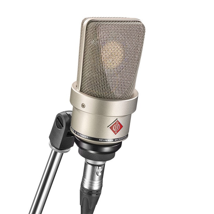 Neumann TLM 103 Large Diaphragm Condenser Microphone w/ SG1 Mount & Wooden Box - Nickel