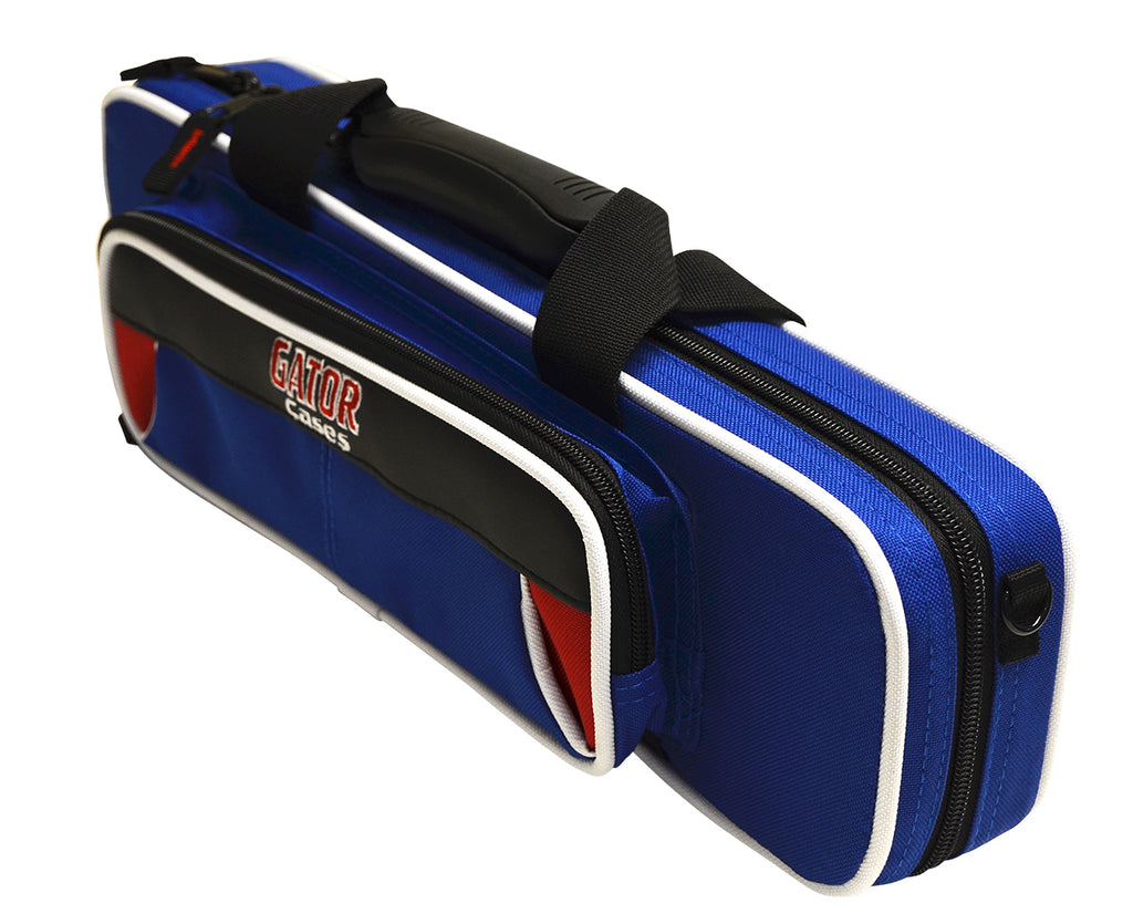 Gator GL-FLUTE-RB Spirit Series Lightweight Flute Case, Red And Blue