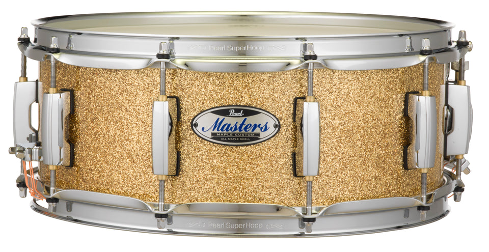 "Pearl MCT Masters Maple Complete 14"" x 5.5"" Snare Drum - Bombay Gold Sparkle"