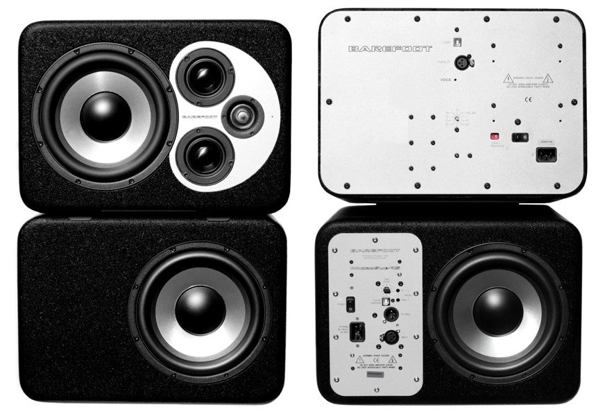 Barefoot Sound MicroStack45 3-Way Active Reference Monitors & Stereo Subwoofers - Pair