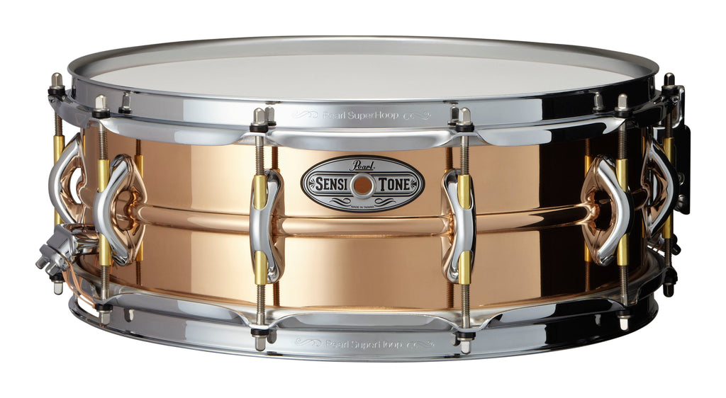 "Pearl 14"" x 5"" SensiTone Premium Beaded Phosphor Bronze Snare Drum"