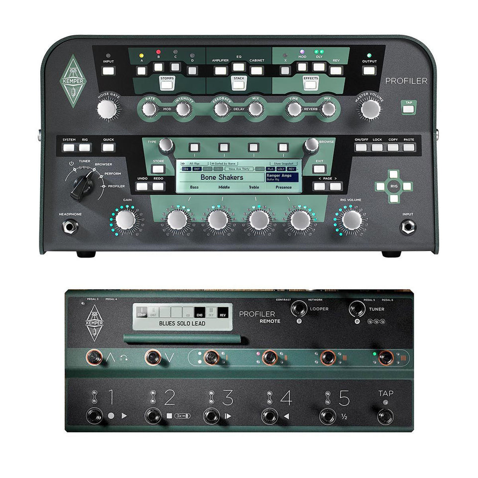 Kemper Profiler PowerHead 600W Modeling Amplifier Head + Remote Foot Controller