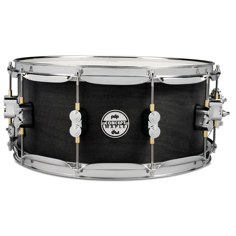 "PDP 14"" x 6.5"" Black Wax Maple Snare Drum"