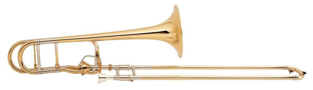 Bach 42AFG Stradivarius Tenor Trombone Outfit, Axial Flow, Gold Bell
