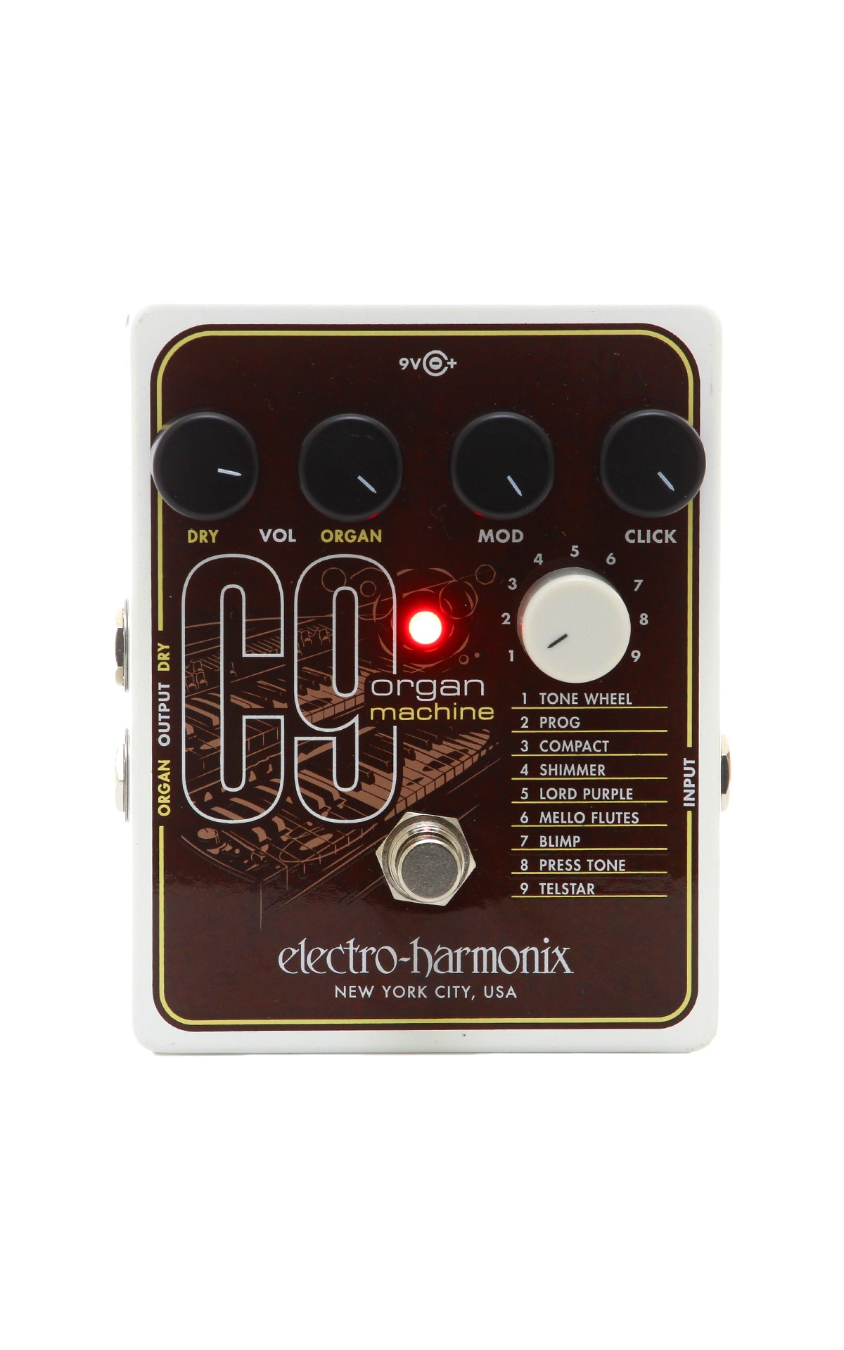 electro harmonix c9 organ machine modulation pedal chuck levin 39 s. Black Bedroom Furniture Sets. Home Design Ideas