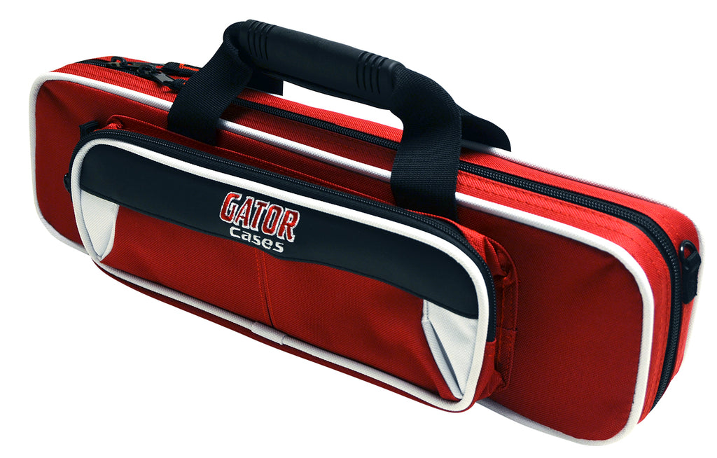 Gator GL-FLUTE-WR Spirit Series Lightweight Flute Case, White And Red