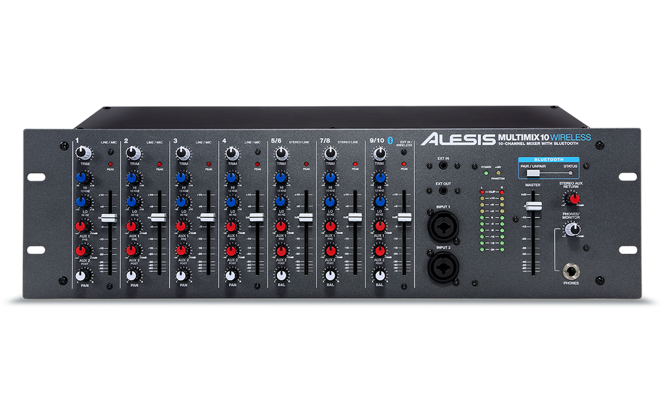 Alesis MULTIMIX10 10-Channel Rackmount Mixer W/ Bluetooth Wireless