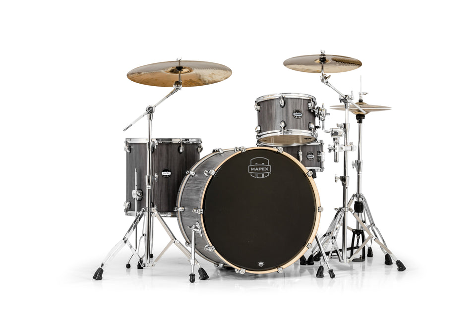 Mapex Mars Series 4-Piece Rock 24 Shell Pack Smokewood With Chrome Hardware