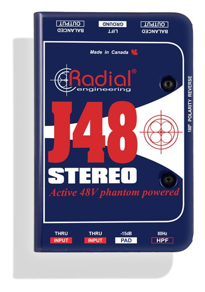 Radial Engineering J48 Stereo Phantom Powered Active Direct Box
