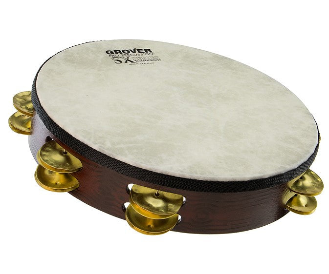 "Grover SXP-BR SX Plus 10"" Double Row Tambourine - Brass"