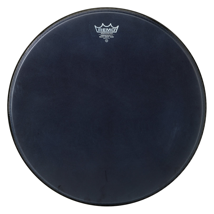 "Remo 20"" Black Suede Powerstroke 3 Bass Drum Head"