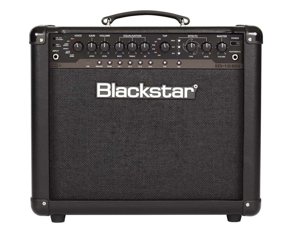 "Blackstar ID:15 TVP 1x10"" 15W Programmable Guitar Combo Amplifier with Effects"