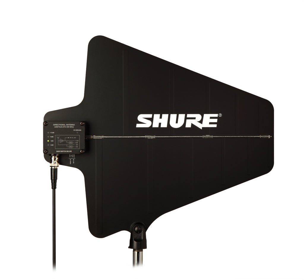 Shure UA874US Active Directional UHF Antenna With Integrated Amplifier