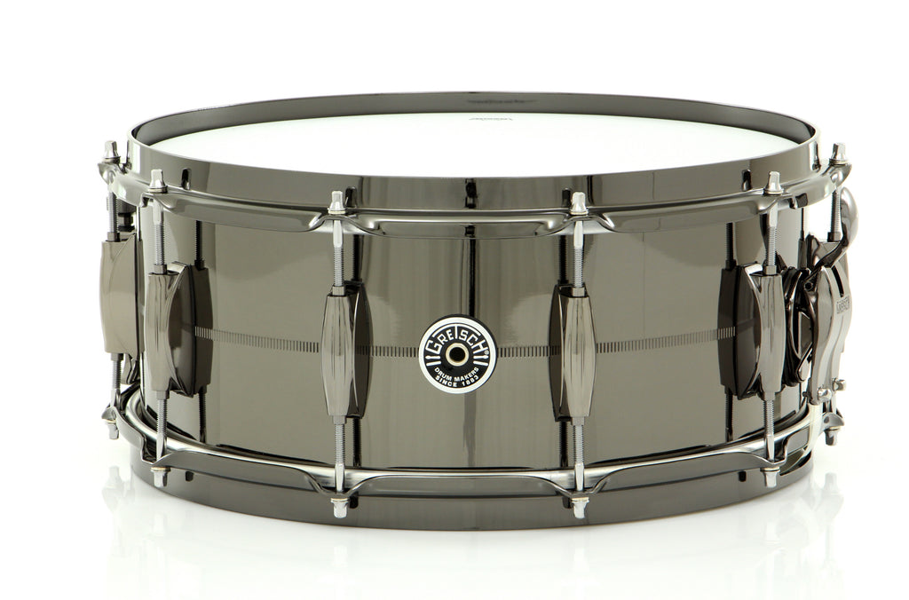 "Gretsch 14"" x 6"" Brooklyn Series Snare Drum Black Nickel Over Brass"