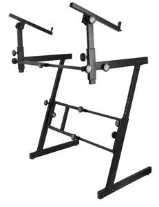 On-Stage Stands KS7365-EJ Professional Heavy-Duty Folding-Z Keyboard With 2nd Tier