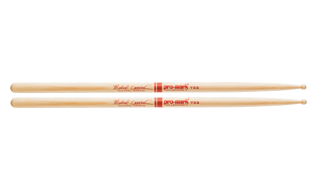 Promark TX733W Hickory 733 Michael Carvin Wood Tip drumstick