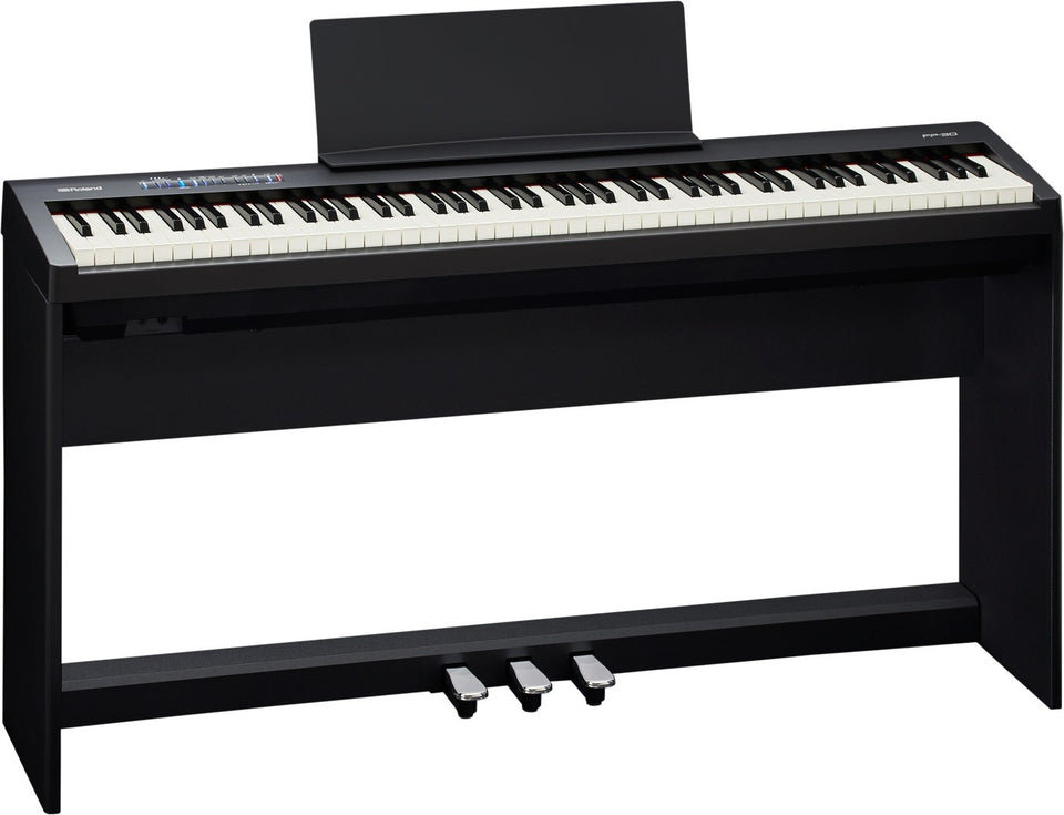 Roland FP-30-BKC SuperNATURAL Digital Piano w/ Stand & Pedal Board - Black