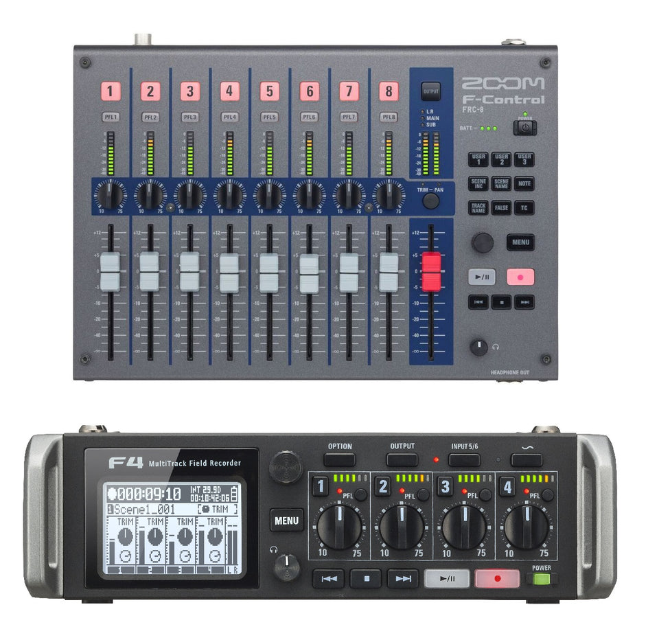 Zoom F4 Multi-Track Field Recorder Bundle W/ FRC-8 F-Series Remote Controller