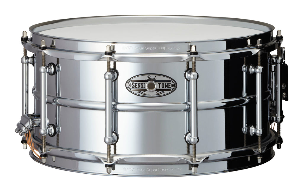 "Pearl 14"" x 6.5"" Beaded Steel SensiTone Snare Drum"