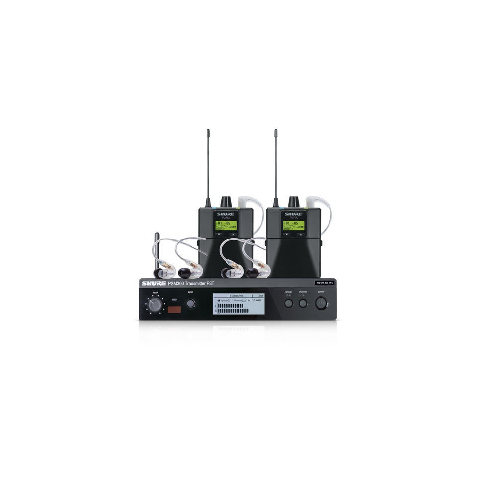 Shure PSM300 TwinPack Pro In-Ear Monitor System - G20 Frequency