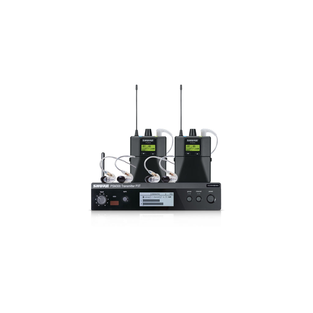 Shure PSM300 TwinPack Pro In-Ear Monitor System - H20 Frequency