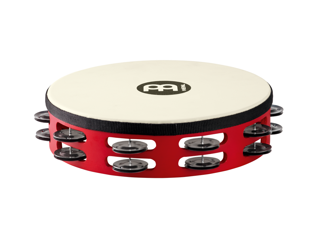 "Meinl TAH2BK-R-TF 10"" Touring Synthetic Head Wood Tambourine"