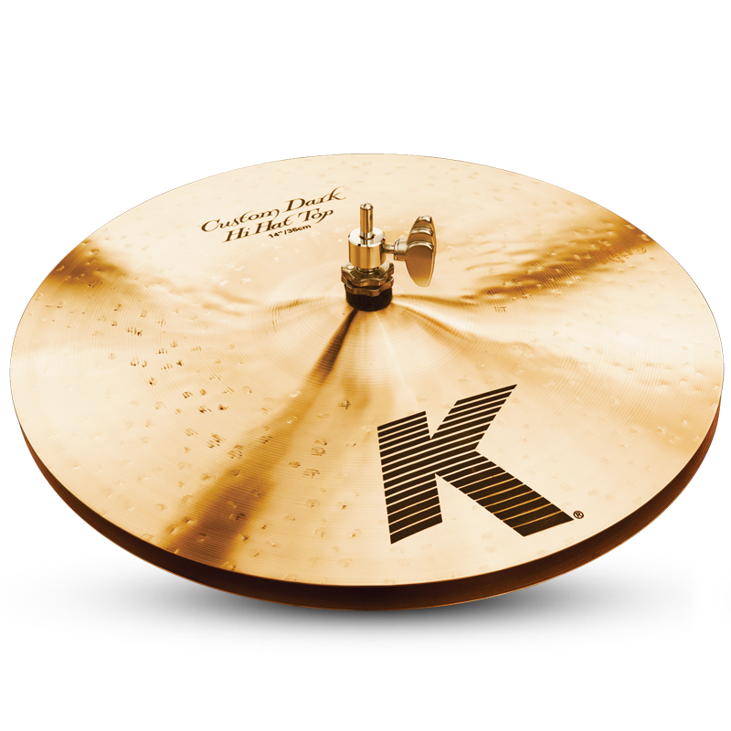 "Zildjian 14"" K CUSTOM Dark Hi-Hat Cymbal Top"