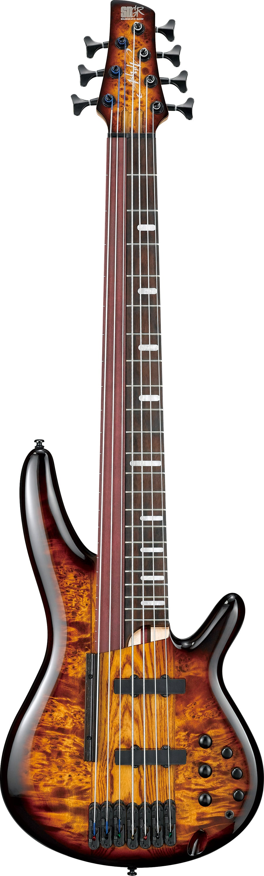Ibanez SRAS7-DEB Workshop 7 String Bass Guitar - Dragon Eye Burst