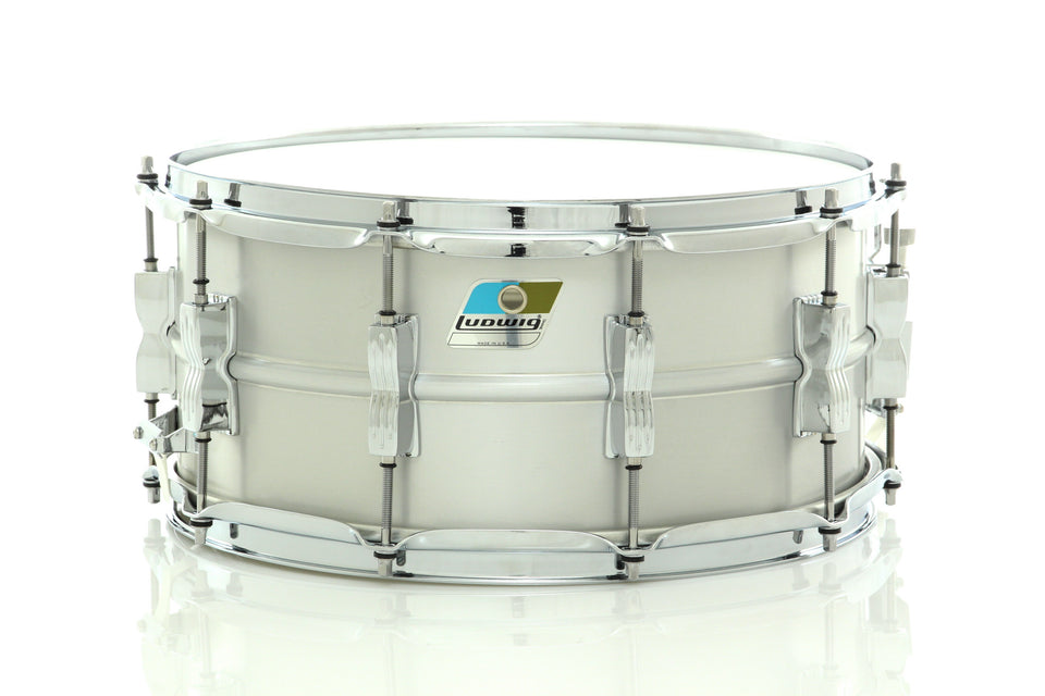 "Ludwig 14"" x 6.5"" Acrolite Snare Drum Brushed Aluminum Finish With Chrome Hardware"