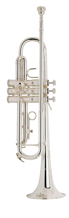 Bach TR200S Step Up B-Flat Trumpet Outfit, Silver Plated