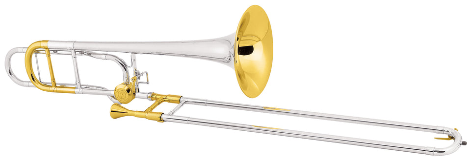 Conn 88HSGXCL Professional Model Tenor Trombone Outfit - Silver-Plated W/ Gold-Plated Trim