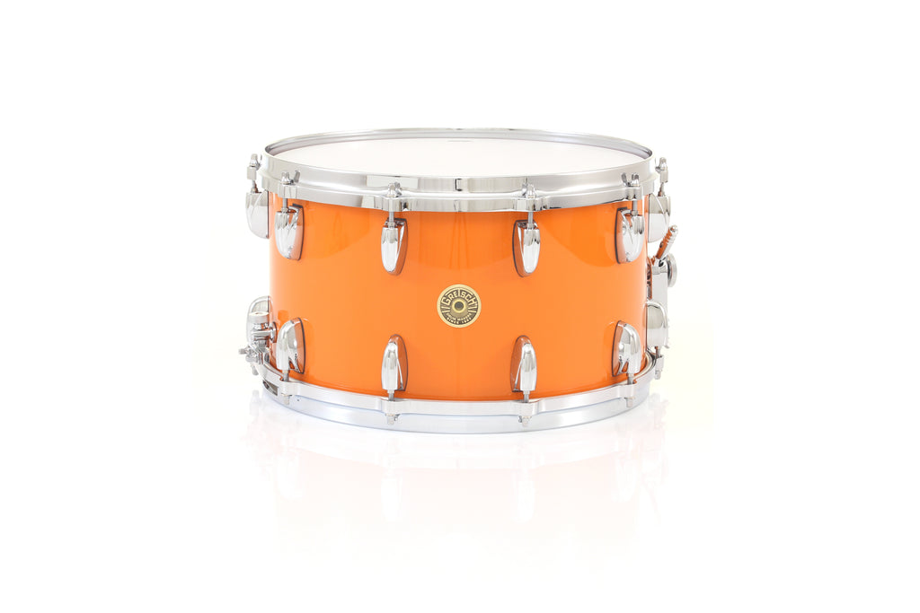 "Gretsch 14"" x 8"" USA CUSTOM Snare Drum - Gretsch Orange Gloss, Micro Sensitive"