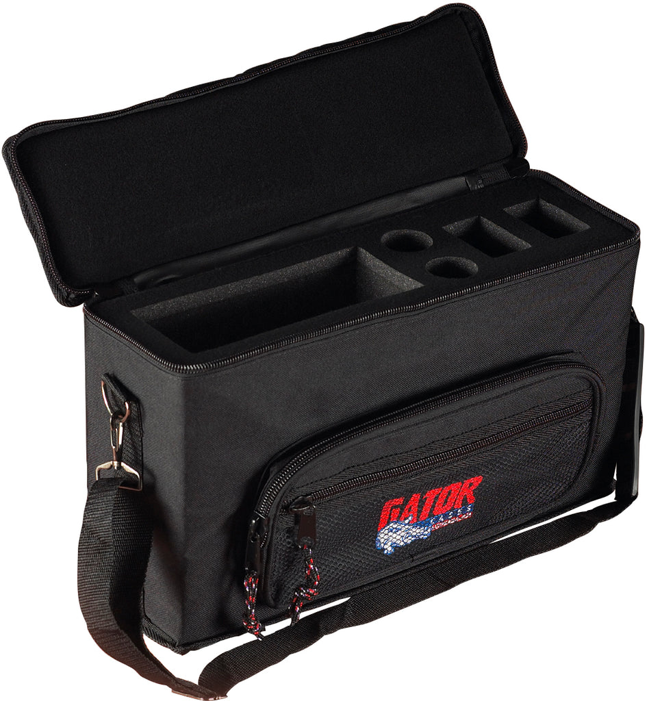 Gator GM-2W Padded Bag For 2 Wireless Microphone Systems