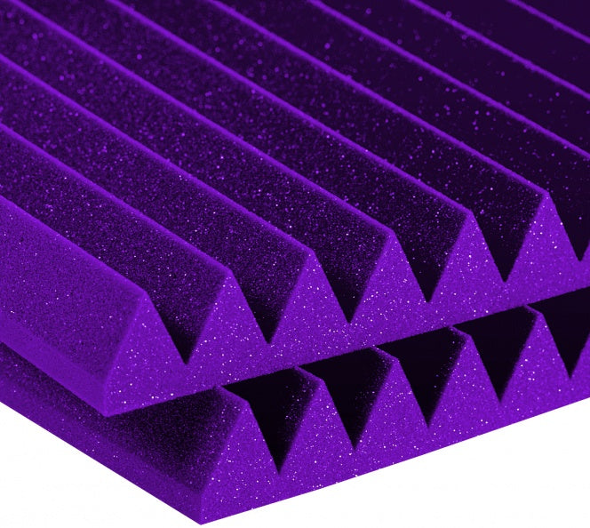 "AURALEX ACOUSTICS 2SF22PUR-HP Studiofoam Wedges - Purple (Set Of 12) - 2"" x 24"" x 24"""
