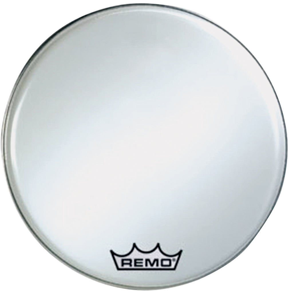 "Remo 28"" Smooth White Crimplock Ambassador Marching Bass Drum Head"