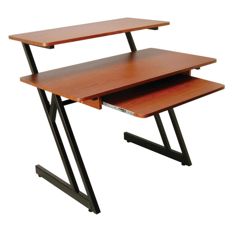 On-Stage Stands WS7500RB WS7500 Series Wood Workstation Desk - Rosewood/Black Steel