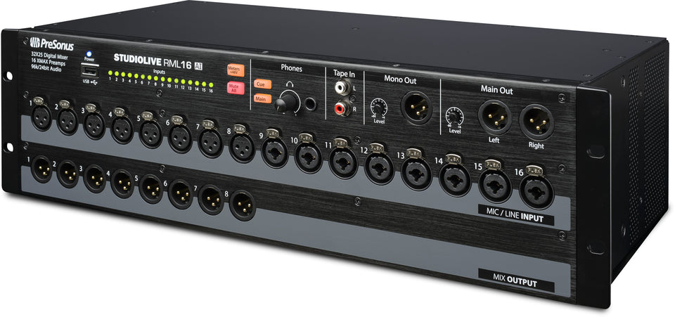 PreSonus StudioLive RML16AI Rack Mount Active Integration Digital Mixer