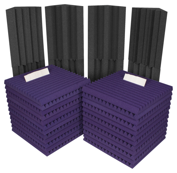 AURALEX ACOUSTICS PROJ2ROOMPUR Project 2 Roominator Acoustic Treatment Kit - Purple