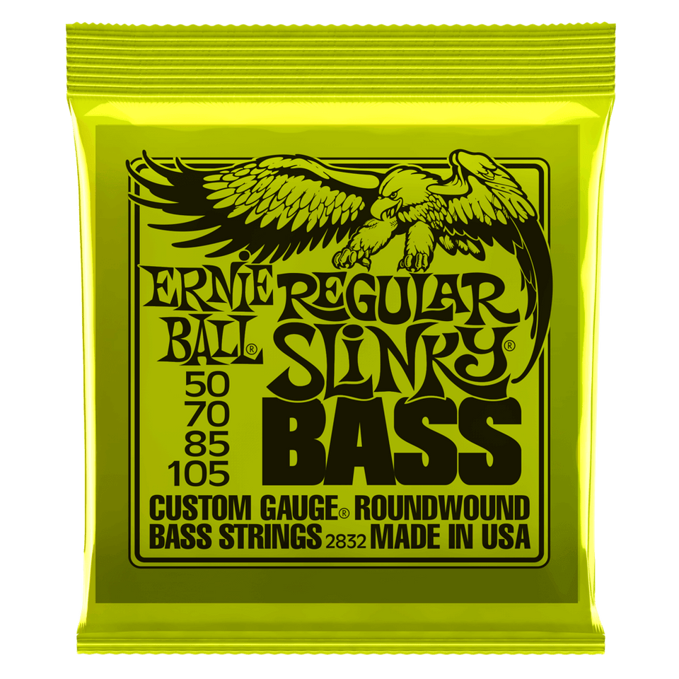 Ernie Ball Regular Slinky Nickel Wound Electric Bass Strings .50-.105