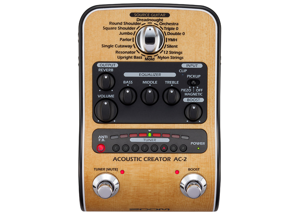 Zoom AC-2 Acoustic Creator Enhanced Direct Box