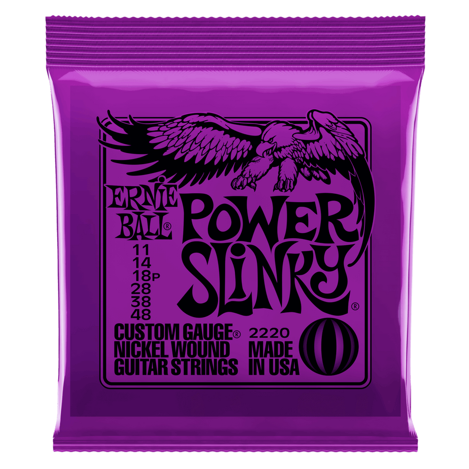Ernie Ball Power Slinky Nickel Wound Electric Guitar Strings .11-.48