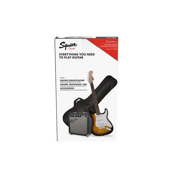 Squier Stratocaster Pack With Frontman 10G Amp - Brown Sunburst