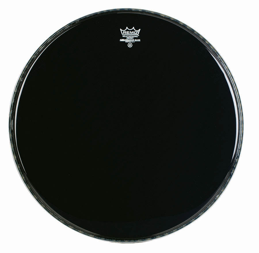 "Remo 22"" Ebony Crimplock Ambassador Marching Bass Drum Head"