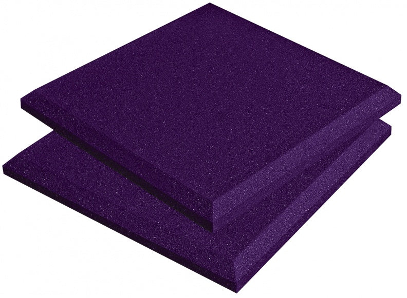 "AURALEX ACOUSTICS SFLATPUR SonoFlat Sound Absorption Panel - Purple (Set Of 16) - 2"" x 24"" x 24"""