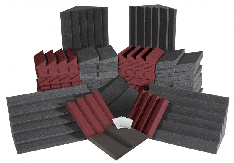 AURALEX ACOUSTICS ROOMADCHA/BUR Alpha DST Roominator Acoustic Treatment Kit - Burgundy