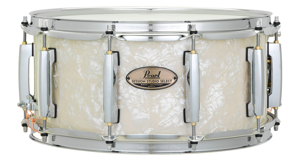 "Pearl 14"" x 6.5"" Session Studio Select Snare Drum - Nicotine White Marine Pearl"