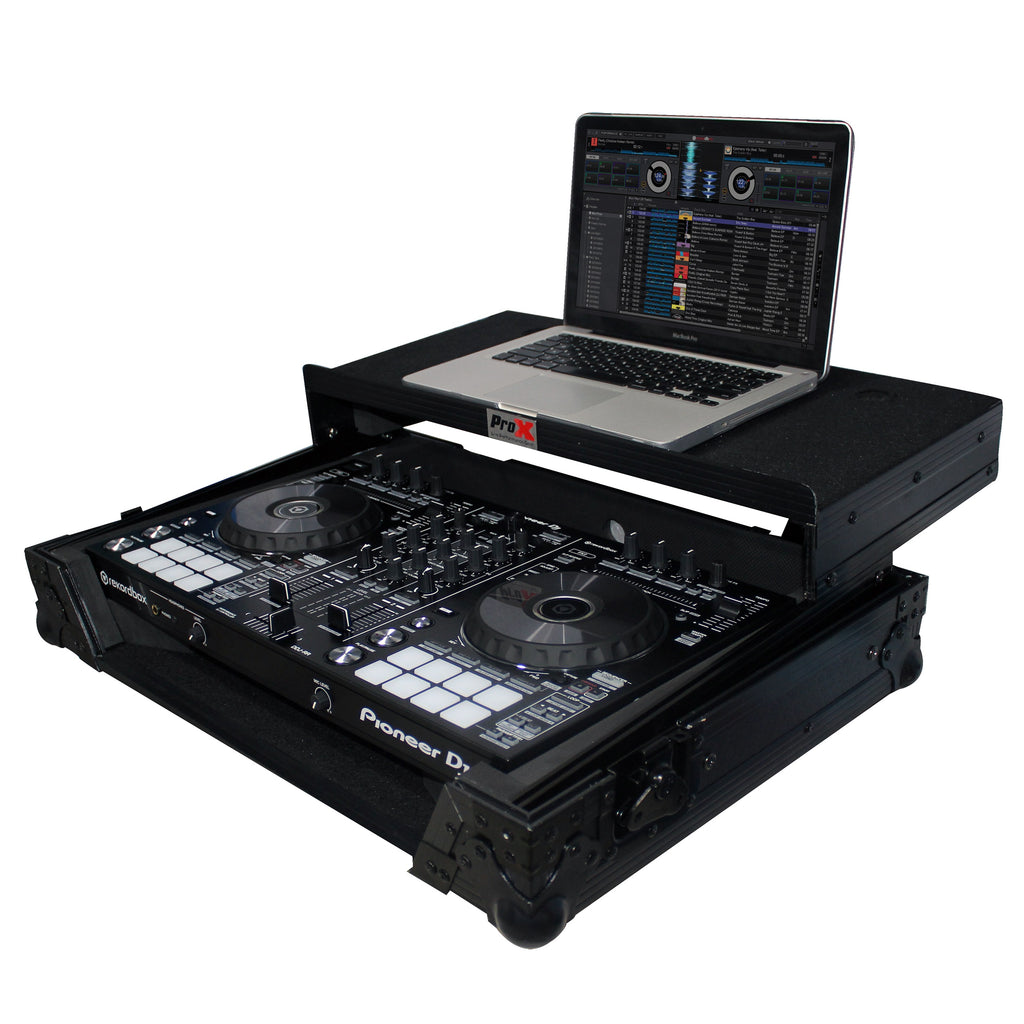 ProX XS-DDJRRLTBL Digital Controller Flight Case W/ Laptop Shelf - Black