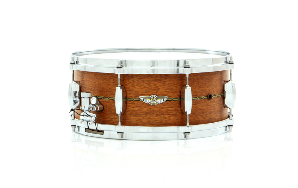 "Tama 14"" x 6"" STAR Solid Mahogany Snare Drum Oiled Natural Mahogany With Inlay Outside"